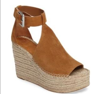 Marc Fisher Annie Perforated Wedge Espadrilles